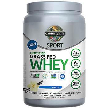 Certified Grass Fed Whey -Vanilla Garden of Life 652 gram Powder