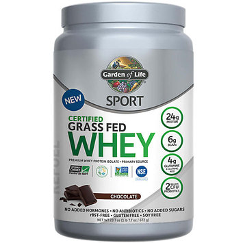 Certified Grass Fed Whey -Chocolate Garden of Life 672 gram Powder