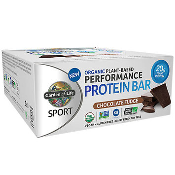 SPORT Refuel Organic Plant-Based Performance Protein Bar, Chocolate Fudge, 2.7 oz x 12 Bars, Garden of Life