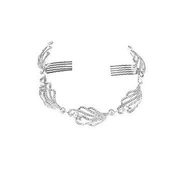 Rhinestone Crystal Vintage Style Silver-base metal Hair Clips Hair Accessories