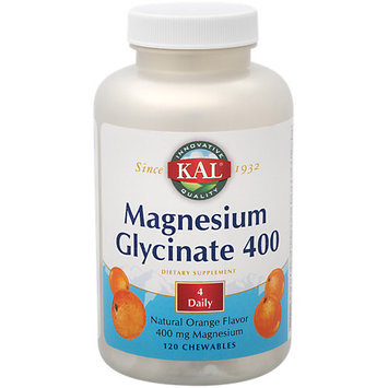 Magnesium Glycinate 400 Orange Kal 120 Chewable