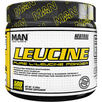 MAN Sports Leucine Pure L-Leucine Powder, 100 Servings
