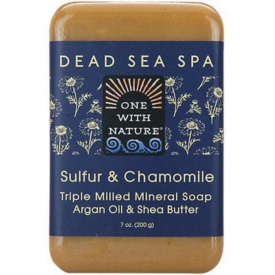 One with Nature 1841683 7 oz Chamomile & Sulfur Bar Soap Case of 6