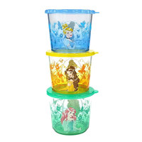 Disney/jumping Beans Disney Princess 3-pc. Kid's Melamine Snack Container Set by Jumping Beans®, Multi/None