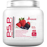 Metabolic Nutrition P.S.P Pre-Workout, Fruit Punch, 360 Grams