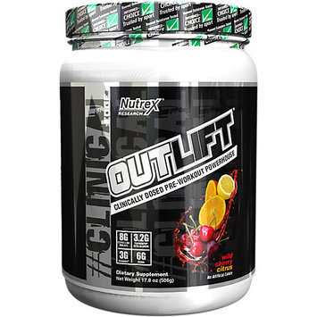 Nutrex Research Outlift, Wild Cherry Citrus, 20 Servings