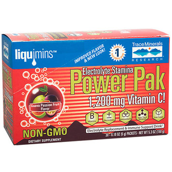 Electrolyte Power Pak Guava Passion Fruit Trace Minerals 30 Packets Box