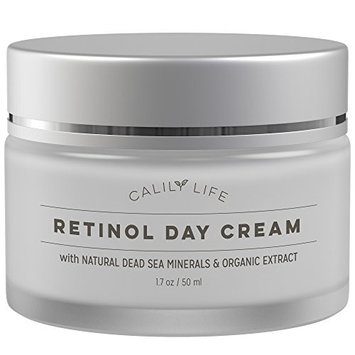 Calily Life Organic Retinol Cream Face and Eye Moisturizer Premium Treatment for Fine Lines and Wrinkles Dead Sea Mineral Anti-Aging Formula - 1.7 oz