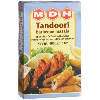 MDH Tandoori Barebeque Masala (Spice Blend), 3.5-Ounce Boxes (Pack of 10)