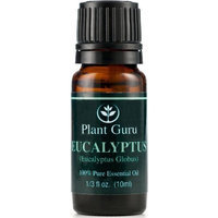 Plant Guru Eucalyptus Essential Oil. 10 ml. 100% Pure, Undiluted, Therapeutic Grade. []