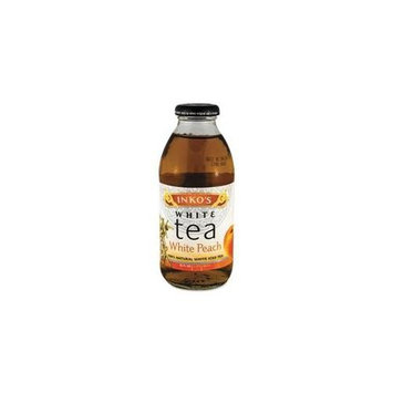 Ready-To-Drink White Peach White Tea, 16oz Bottle, 12/carton