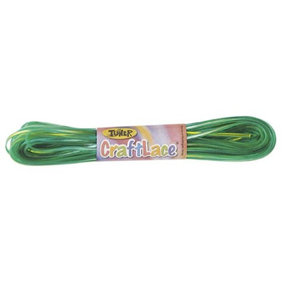 CraftLace Hank with Light Tie Dye Fluorescent Green - 9 yds - Pack of 24