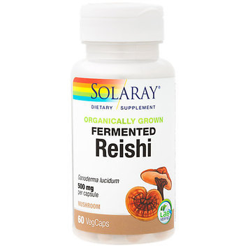 Organically Grown Reishi Mushroom Solaray 60 VCaps
