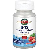B-12 Adenosylcobalamin ActivMelt Strawberry Kal 90 Lozenge