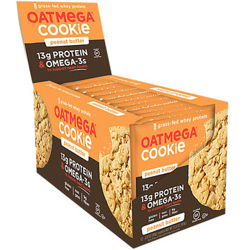 Oatmega Grass Fed Whey Protein Cookie Peanut Butter - 12Ct