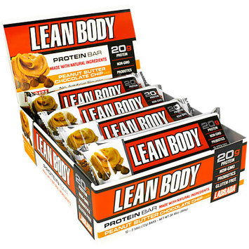 Labrada Nutrition Lean Body Protein Bar, Peanut Butter Chocolate Chip, 12 Bars