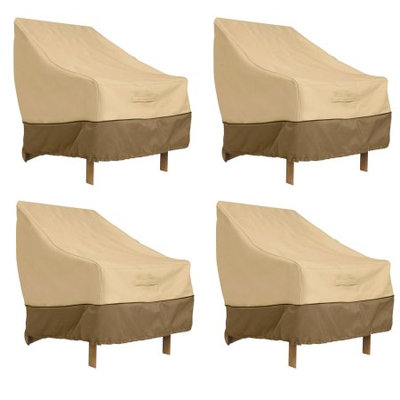 Classic Car Accessories Classic Accessories Veranda Patio Lounge Chair Cover - Durable and Water Resistant Patio Cover, Large, 4-Pack