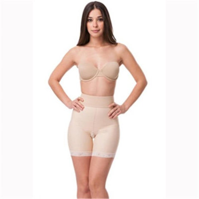Isavela BE04 Stage 2 Open Buttock Enhancer Mid Thigh Girdle, Beige - Extra large