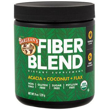Barleans Organic Fiber Blend Vanilla Flavor Barlean's 8 oz Powder