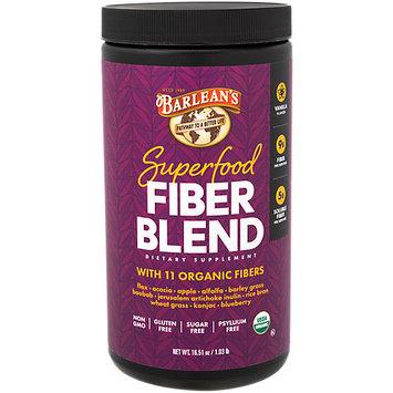 Barleans Organic Superfood Fiber Blend Vanilla Flavor Barlean's 16.5 oz Powder