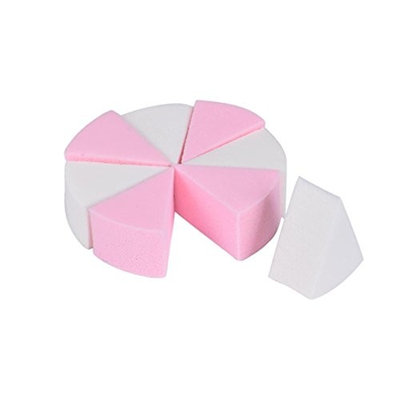 Misaky 8PCS Makeup Foundation Beauty Cosmetic Facial Face Sponge Powder Puff Flawless Makeup Blender Multi Color Makeup Sponges