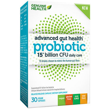Advanced Gut Health Probiotic 15 billion CFU Genuine Health 30 Caps