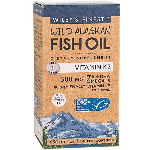 Wileys Finest Wild Alaskan Fish Oil with K2