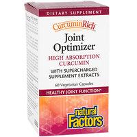 CurcuminRich Joint Optimizer Natural Factors 60 VCaps