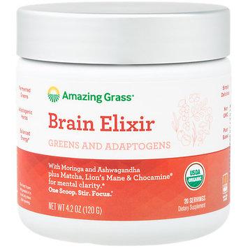Elixir Brain Blend 20 Serving Amazing Grass 4.9 oz Powder