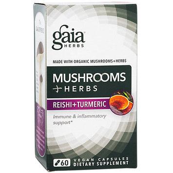 Mushrooms + Herbs Reishi + Turmeric Gaia Herbs 60 Caps