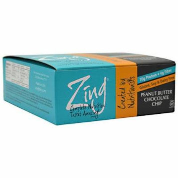 Zing Nutrition Bar-Peanut Butter Chocolate Chip-Box Zing Bars 12 Bars Box