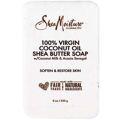 Shea Moisture U-BB-2690 100 Percent Virgin Coconut Oil Shea Butter Soap for Unisex - 8 oz