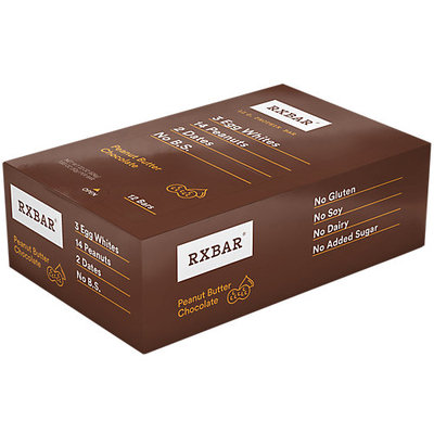 RXBAR 12g Protein Bar Peanut Butter Chocolate 12ct Gluten-Free Snack Meal