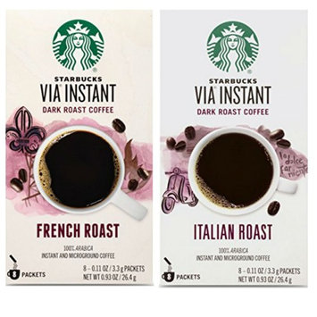 Starbucks VIA Instant Coffee Packets. Starbucks Italian Roast and Starbucks French Roast. Convenient One-Stop Shopping. Easy to Source Ultra Popular Starbucks Blends. Coffee Paradise!