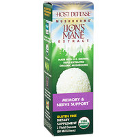 Fungi Perfecti / Host Defense Lion's Mane Extract Fungi Perfecti/Host Defense 2 fl oz Liquid