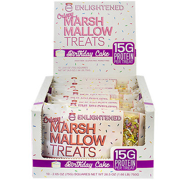 Enlightened Crispy Marsh Mallow Treats - Birthday Cake