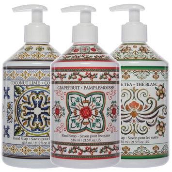 Fruits & Flowers Liquid Hand Soap 21oz Pump Dispenser Bottles Bathroom Sink Bundle (Pack of 3)