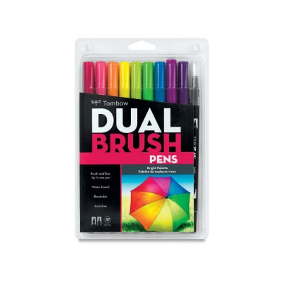 Tombow Dual Brush Marker Open Stock-725 Rhodamine