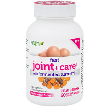 Fast Joint + Care with Fermented Turmeric By Genuine Health - 60 Capsules