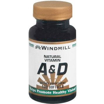 Windmill Vitamin A and D Softgels 100 Soft Gels