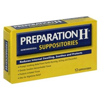 5 Pack - Preparation H Hemorrhoidal Suppositories 12 Each