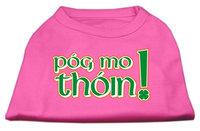 Mirage Pet Products 5163 SMBPK Pog Mo Thoin Screen Print Shirt Bright Pink Sm 10