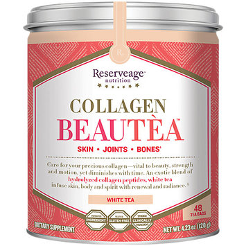 Collagen BeauTea White Tea Reserveage 24 Bags Container