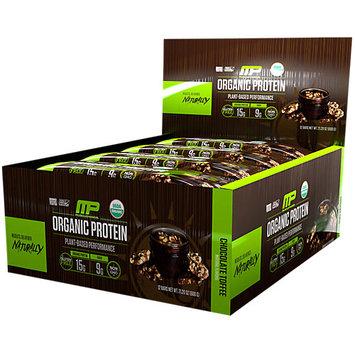 Organic Protein Bar Chocolate Toffee MusclePharm 12 Bars Box