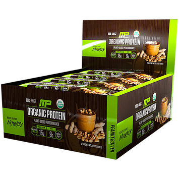 Organic Protein Bar Peanut Butter MusclePharm 12 Bars Box