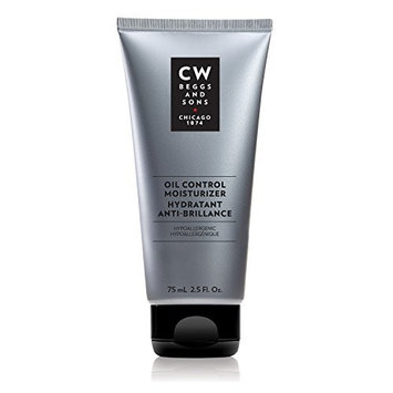 CW Beggs and Sons Oil Control Moisturizer for Men, Hypoallergenic and Fragrance-Free, 2.5 fl oz