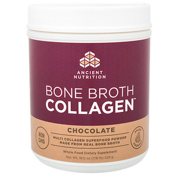 Ancient Nutrition Bone Broth Collagen Chocolate - 30 Servings - Superfood - Type I, II, III Collagen - Paleo-Friendly