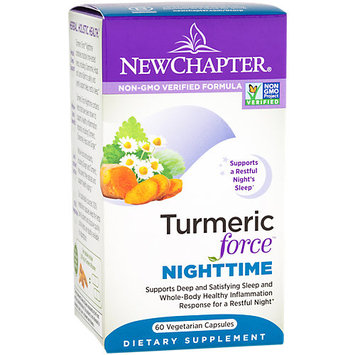 New Chapter Turmeric Force Nighttime Vegetarian Capsules, 60 Ct