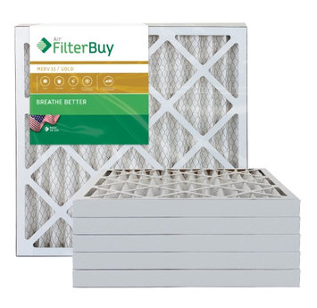AFB Gold MERV 11 18x20x2 Pleated AC Furnace Air Filter. Filters. 100% produced in the USA. (Pack of 6)