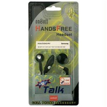 SkyTouch H-SA-E105HO-PK1 2.5mm Mono Handsfree Headset with On-Off Button and Mic for Samsung Phones - Packaged